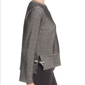 Madewell French Rib Side Tie Pullover